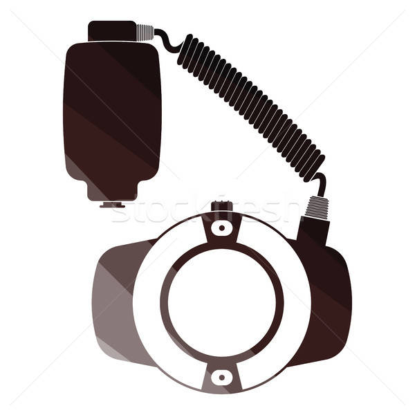Icon of portable circle macro flash Stock photo © angelp