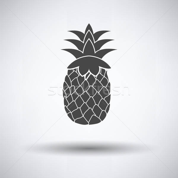 Icône ananas gris nature signe couleur Photo stock © angelp