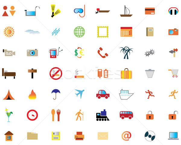 Iconos de la web colección diferente iconos diseno web negocios Foto stock © angelp