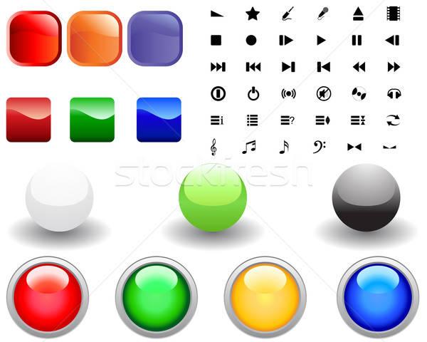 Icône ensemble différent icônes web design affaires Photo stock © angelp