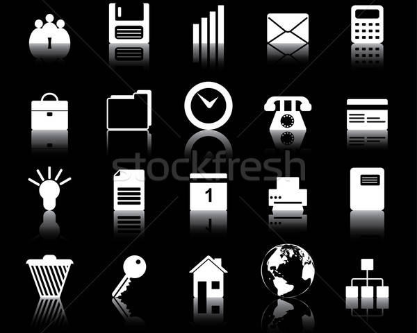 Stock photo: business and office icons set