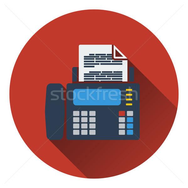 Fax icône ordinateur bureau papier téléphone Photo stock © angelp