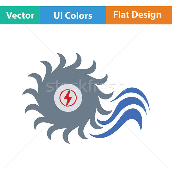 Water turbine icon Stock photo © angelp