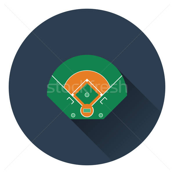 Baseball field aerial view icon Stock photo © angelp