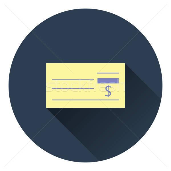 Banco comprobar icono color diseno negocios Foto stock © angelp