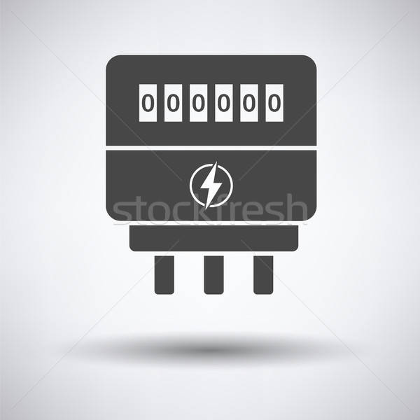 Electric meter icon Stock photo © angelp
