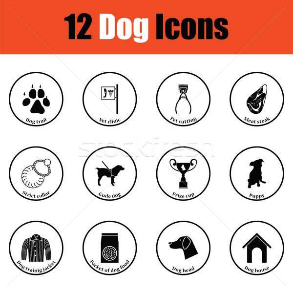 Stock photo: Set of dog breeding icons