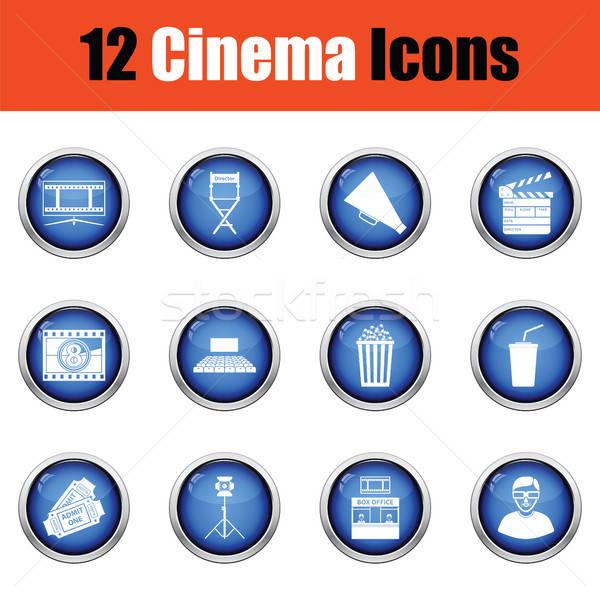 Set of cinema icons.  Stock photo © angelp