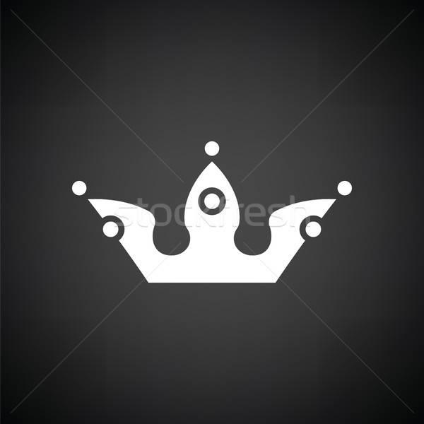 Partij kroon icon zwart wit kinderen kind Stockfoto © angelp