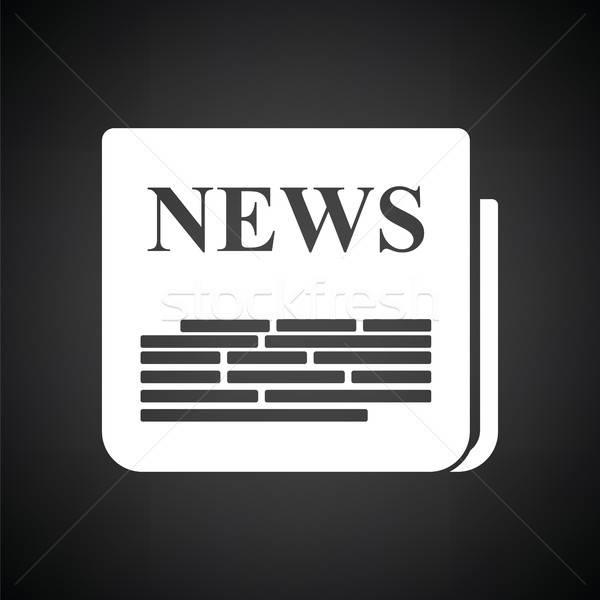 Periódico icono blanco negro papel signo financiar Foto stock © angelp