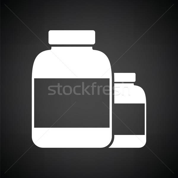 Pills container icon Stock photo © angelp