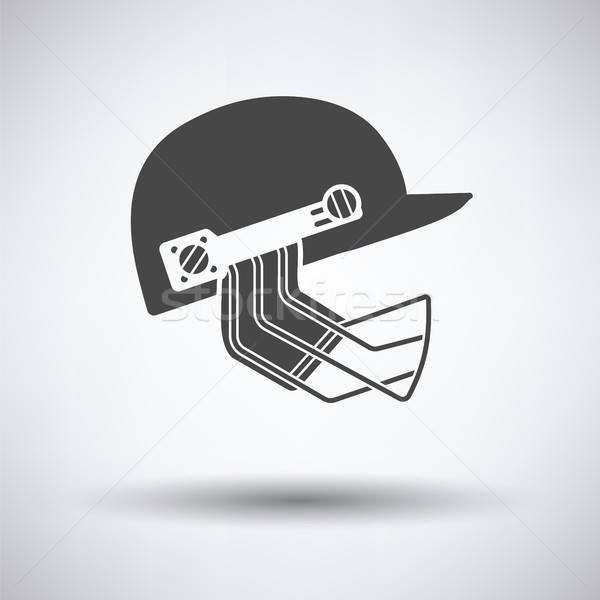 Cricket helmet icon Stock photo © angelp