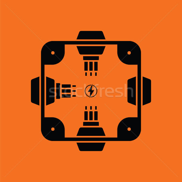 Electrical  junction box icon Stock photo © angelp