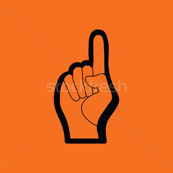 Ventilador espuma mano gesto icono Foto stock © angelp