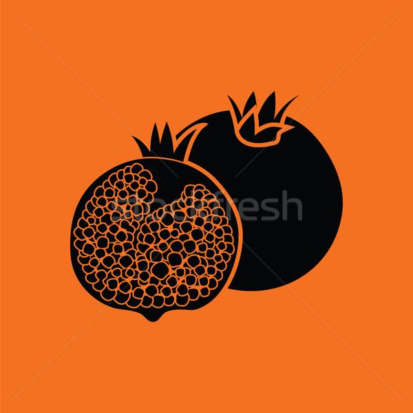 Pomegranate icon Stock photo © angelp