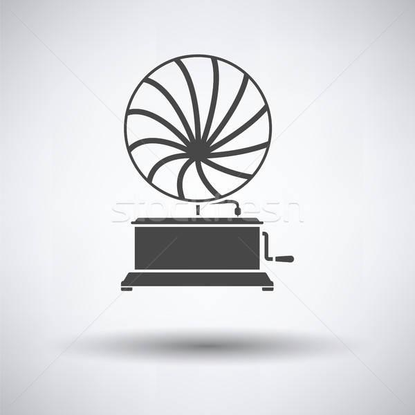 Gramophone icon Stock photo © angelp