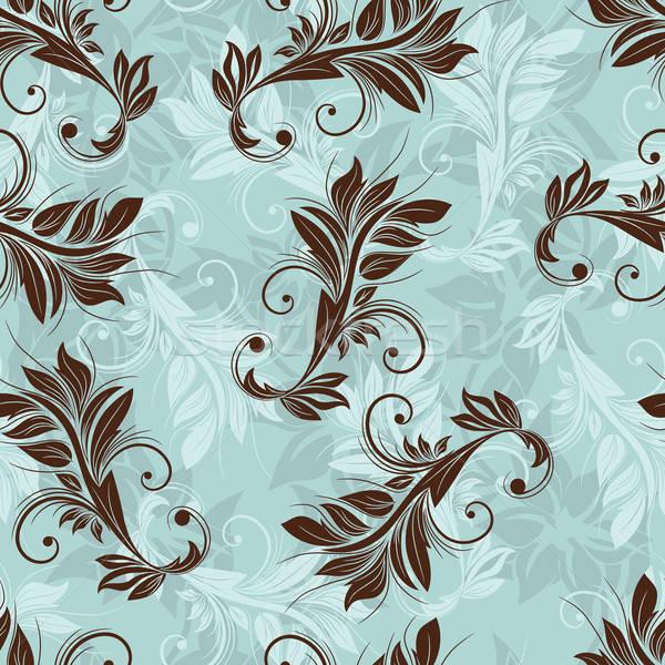 цветочный бесшовный вектора дизайна цветок лист Сток-фото © angelp