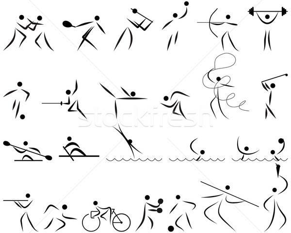 summer sport icon set Stock photo © angelp