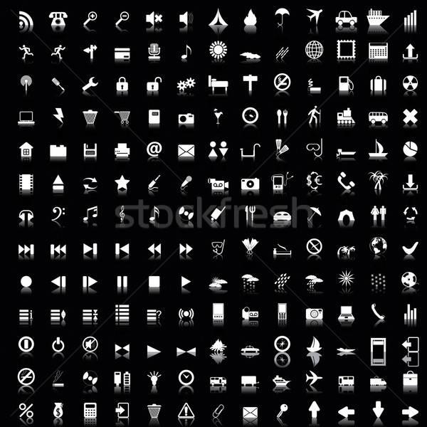 Raccolta diverso icone web design business Foto d'archivio © angelp