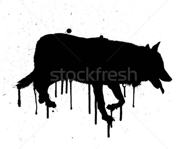 Grunge wolf Stock photo © angelp