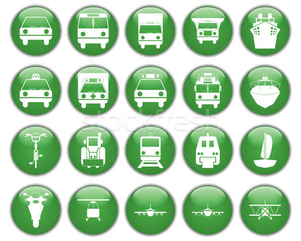 Vervoer ingesteld verschillend vector web icons Stockfoto © angelp