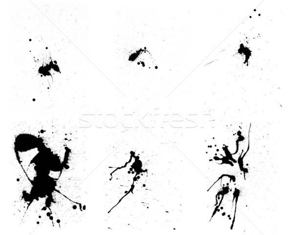 Imagine de stoc: Grunge · vector · set · abstract · proiect · vopsea
