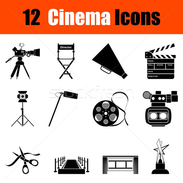 Stock photo: Set of cinema icons