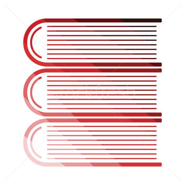 книгах икона цвета дизайна книга Сток-фото © angelp