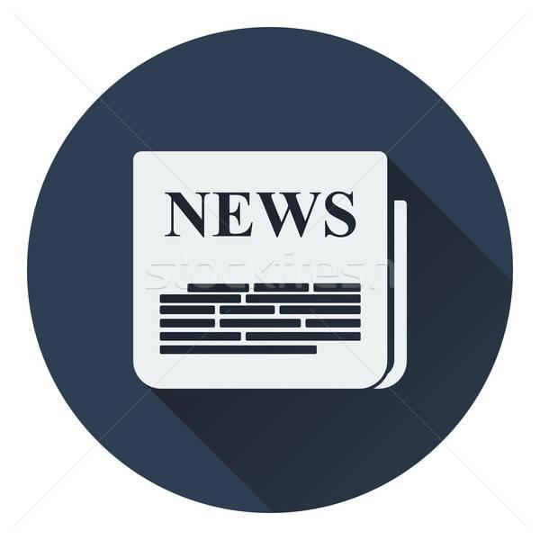 Periódico icono negocios web comunicación lectura Foto stock © angelp