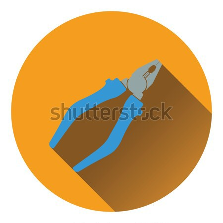 Icon of side cutters Stock photo © angelp