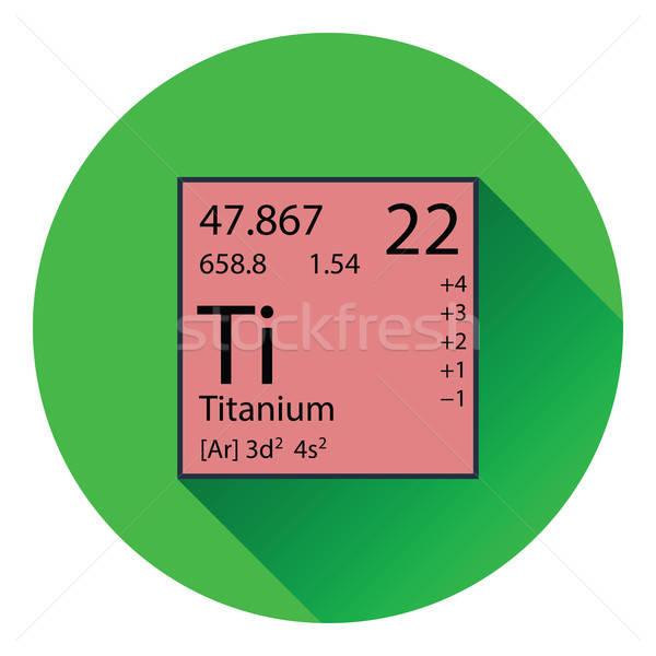 Icon of chemistry element Stock photo © angelp