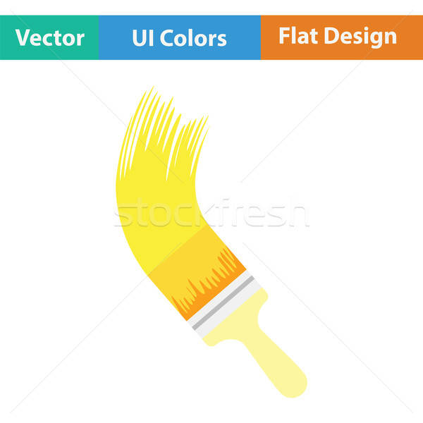 кистью икона цвета дизайна стены домой Сток-фото © angelp