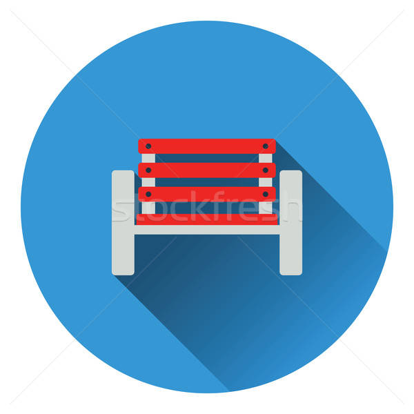 Tennis player bench icon Stock photo © angelp