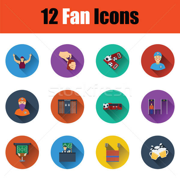 Ingesteld twaalf voetbal iconen ui Stockfoto © angelp