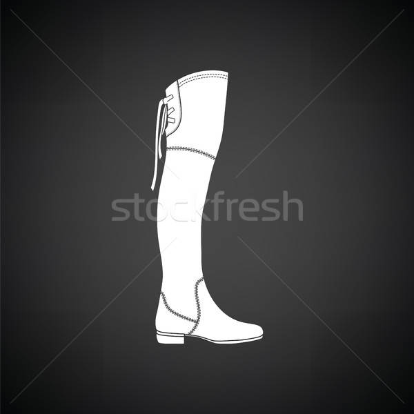 Hessian boots icon Stock photo © angelp