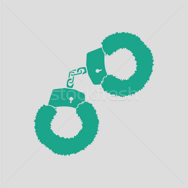 Sex handcuffs with fur icon Stock photo © angelp