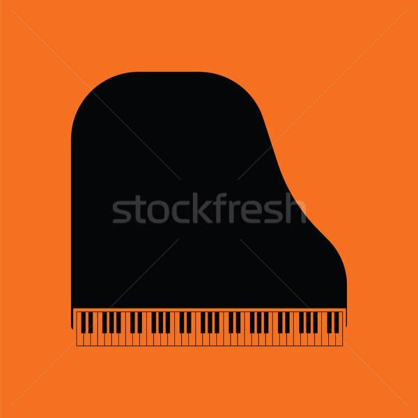 Hangversenyzongora ikon narancs fekete háttér keret Stock fotó © angelp
