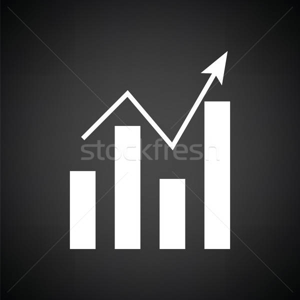 Analytics grafiek icon zwart wit abstract teken Stockfoto © angelp