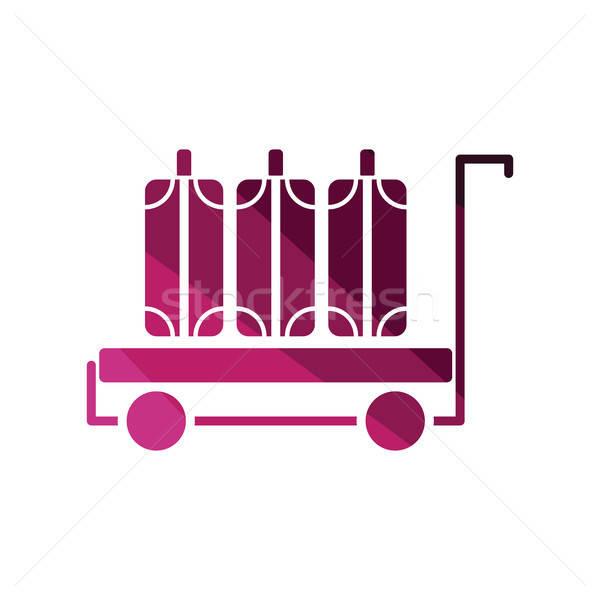 Gepäck Warenkorb Symbol Farbe Design Reise Stock foto © angelp
