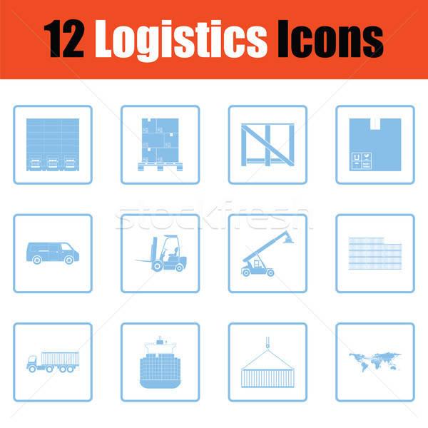 Logistics icon set Stock photo © angelp
