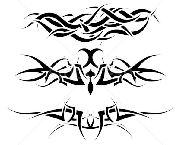 muster tribal tattoo design feuer hintergrund vektor grafiken pavel konovalov. Black Bedroom Furniture Sets. Home Design Ideas