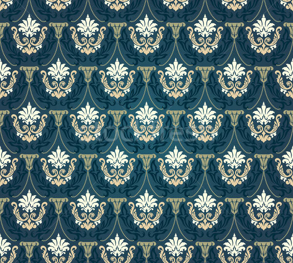 Colorful  seamless damask Stock photo © angelp