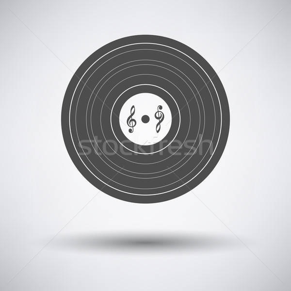 Record icône gris design disco Photo stock © angelp