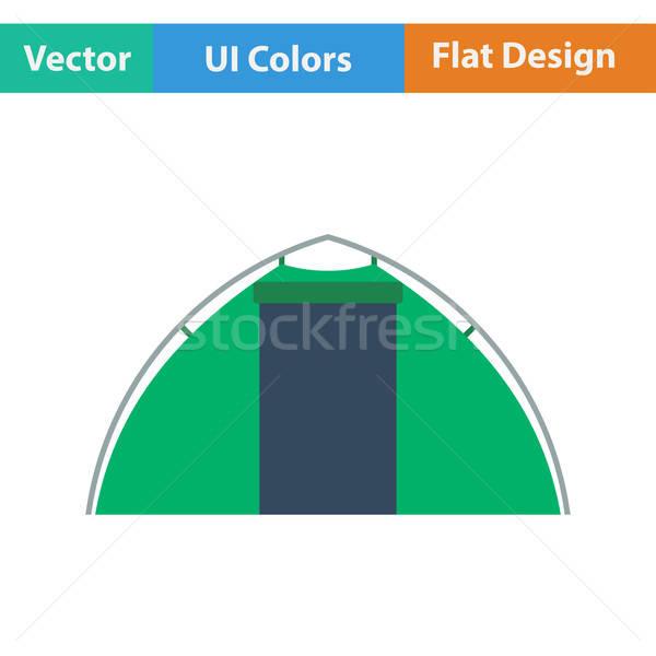 Flat design icon of touristic tent Stock photo © angelp