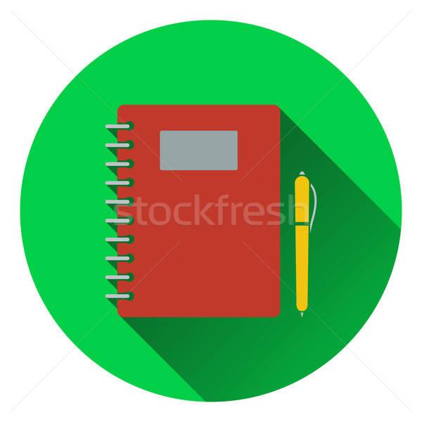 Stock fotó: Terv · ikon · füzet · ui · színek · könyv