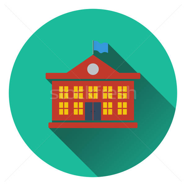 Diseno icono escuela edificio ui colores Foto stock © angelp
