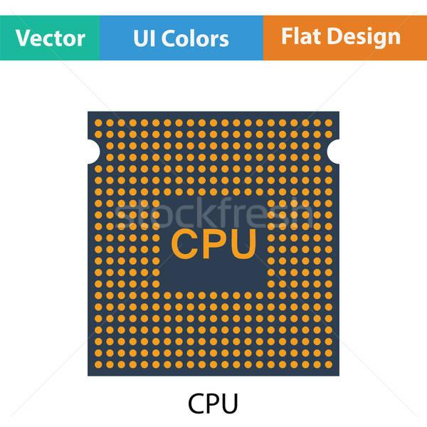 процессор икона цвета дизайна сеть веб Сток-фото © angelp