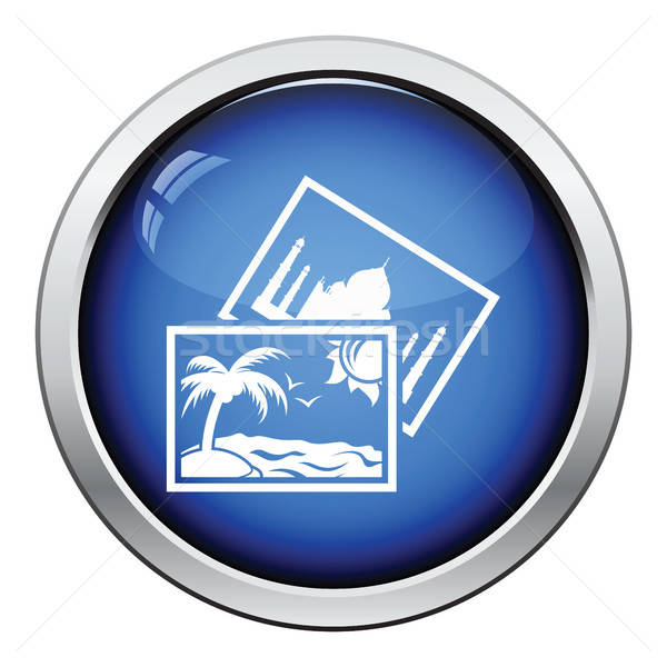 Two travel photograph icon Stock photo © angelp