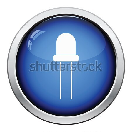 Diode icon glanzend knop ontwerp licht Stockfoto © angelp