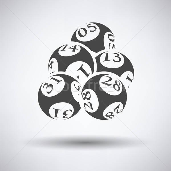 Lottó golyók ikon szürke pénz sport Stock fotó © angelp